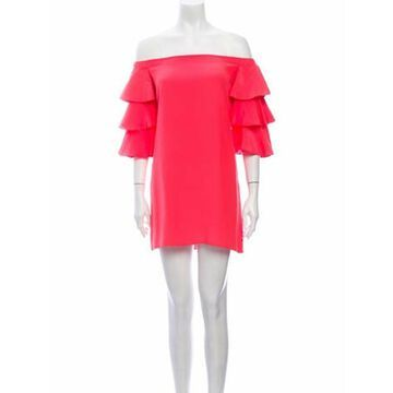 Off-The-Shoulder Mini Dress w/ Tags Orange