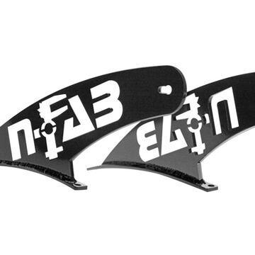 N-Fab F9750LR-TX Roof Mounted Light Brackets Fits 97-03 F-150