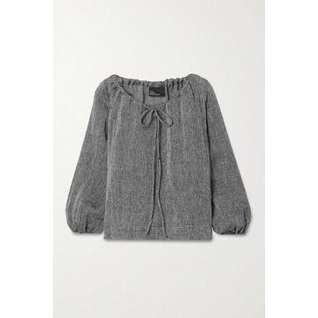 Lisa Marie Fernandez - Linen-blend Gauze Top - Black