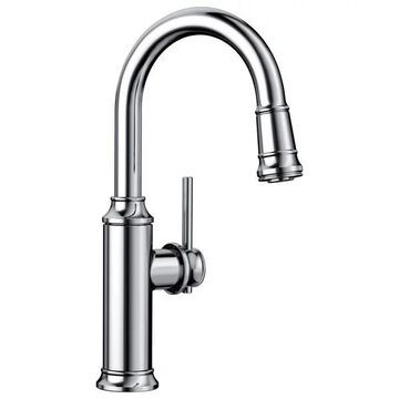 Blanco 442512 Empressa 1-Handle Pull-Down Bar Faucets, Chrome