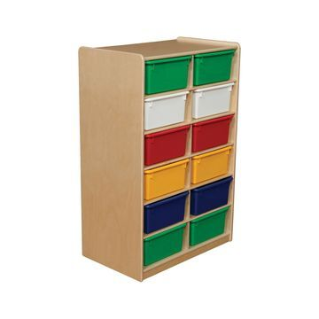 Wood Designs 12 Letter Tray Storage Unit with 5 in. Trays