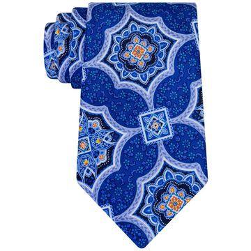 Geoffrey Beene Mens Medallion Culture Necktie