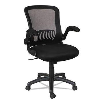 Alera EB-E Series Swivel/Tilt Mid-Back Mesh Chair, Supports up to 275 lbs., Black Seat/Black Back, Black Base