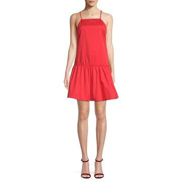 Armani Exchange Womens Flounce Hem Mini Dress