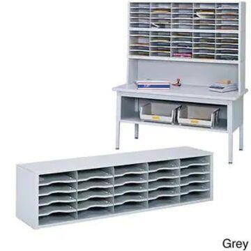 Safco E-Z Sort Gray Solid Steel Mail Sorter with Adjustable Shelves (Grey)