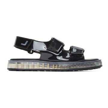 Joshua Sanders Black PVC Transparent Sole Sandals