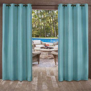Exclusive Home 2-pack Delano Indoor/Outdoor Window Curtain, Green, 54X84