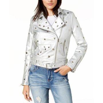 Glamorous Womens Spring Faux Leather Motorcycle Jacket