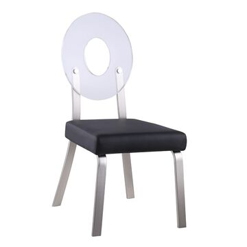 Chintaly Lenor Acrylic Back Side Chair, Set of 2