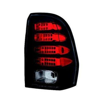 IPCW LED Tail Lamps For 2002-2009 Chevy Trailblazer Chrome Black Pair LEDT-345CB