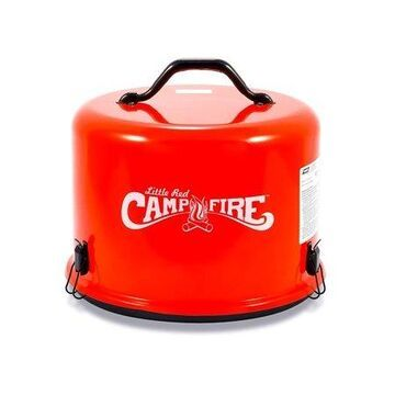 Camco Little Red Campfire 11.25-Inch Portable Propane Outdoor Camp Fire, Approved For RV Campgrounds - 65,000 BTU's Includes 8 Foot Propane Hose (58031)