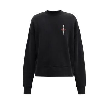 Palm Angels - Logo-print Cotton-jersey Sweatshirt - Mens - Black