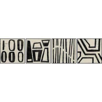 Marmont Hill - Handmade Hieroglyphs Quadriptych