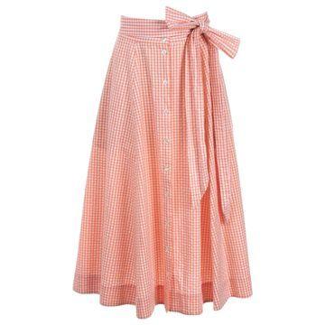 Lisa Marie Fernandez Orange Cotton Skirts