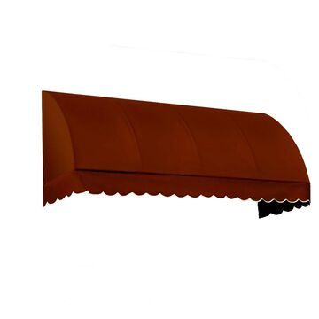 Awntech Savannah 40.5-in Wide x 24-in Projection Terra Cotta Solid Fixed Window/Door Awning in Red | RS22-L-3TER