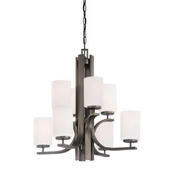Thomas Lighting Pendenza 8-Light Oiled Bronze Transitional Chandelier   TK0008715