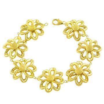 Fremada 14k Yellow Gold Fiore Bracelet