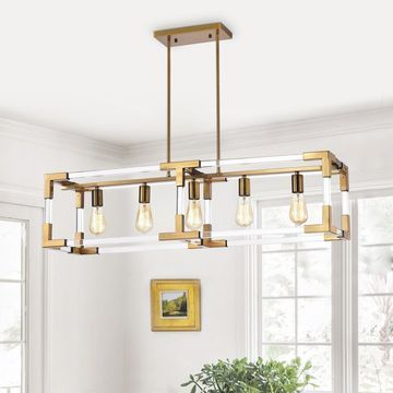 Warehouse of Tiffany Turido Brass 5-light Chandelier
