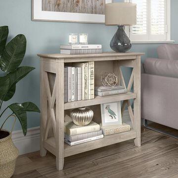 Key West Small 2 Shelf Bookcase by Bush Furniture