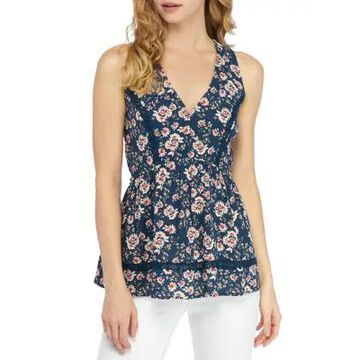 American Rag Women's Racerback Tunic With Lace Insets - -