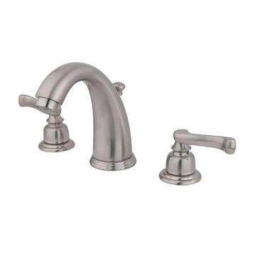 Elements of Design Magellan Brushed Nickel 2-Handle 8-in Widespread Bathroom Sink Faucet with Drain | EB988FL