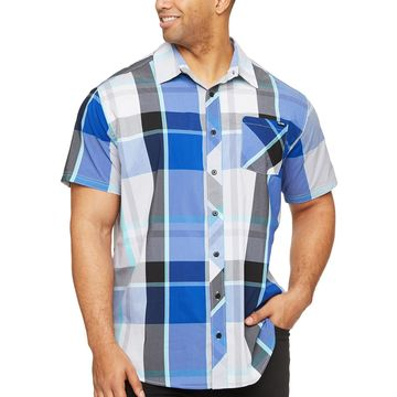Zoo York Mens Short Sleeve Plaid Button-Front Shirt Big and Tall