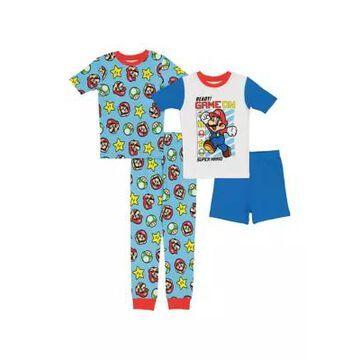 Nintendo Boys' Boys 8-20 4-Piece Pajama Set - -