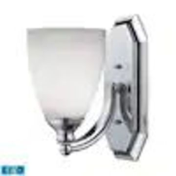 Westmore Lighting Homestead 1-Light Chrome Traditional Vanity Light