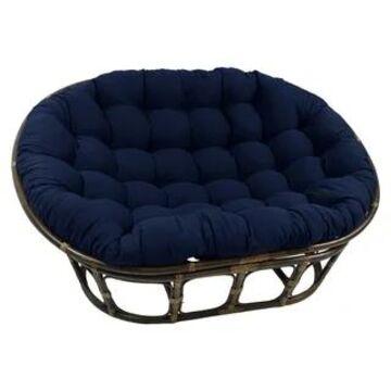 Blazing Needles 78-inch Double Papasan Indoor Cushion (Navy)