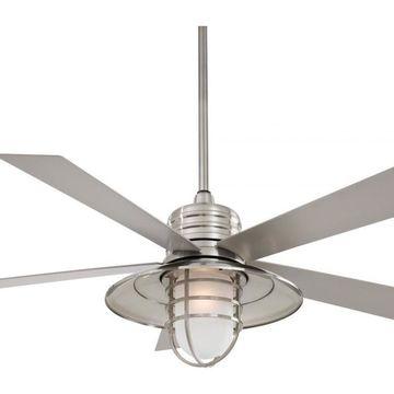 Minka-Aire F582-BNW One Light Brushed Nickel Wet Outdoor Fan