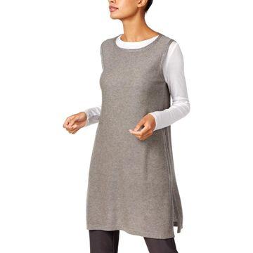 Eileen Fisher Womens Tunic Top Tencel Sleeveless