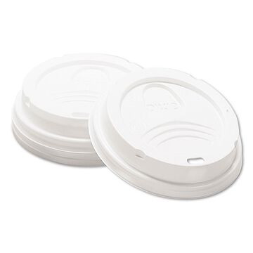 Dixie Drink-Thru Lid Fits 8oz Hot Drink Cups White 1000/Carton 9538DX