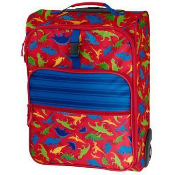 Stephen Joseph Dino Rolling Luggage in Red/Blue