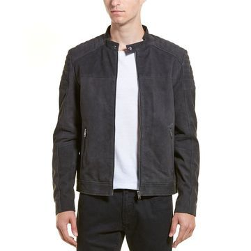 Selected Homme Mens Quilted Suede Jacket