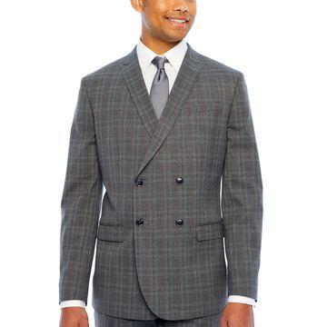 JF J.Ferrar Plaid Classic Fit Suit Jacket
