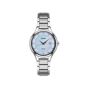 Seiko Womens Silver Tone Stainless Steel Bracelet Watch-Sut351