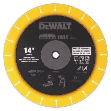 DeWalt DW8500 14-Inch Chop Saw Blade