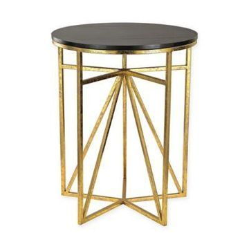 Sterling Industries Geometric Side Table in Gold