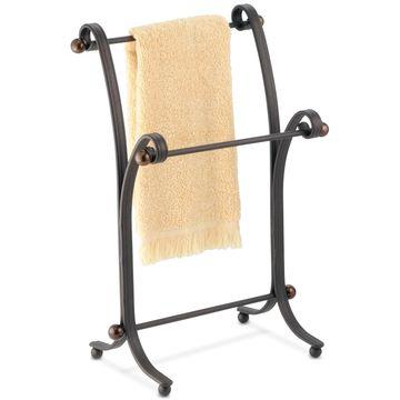 York Split Bronze Fingertip Towel Stand