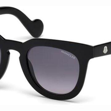 Moncler ML0008 01B Womenas Sunglasses Black Size 48