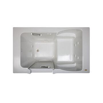 Jacuzzi Finestra 60-in White Acrylic Rectangular Right-Hand Drain Walk-In Whirlpool Bathtub