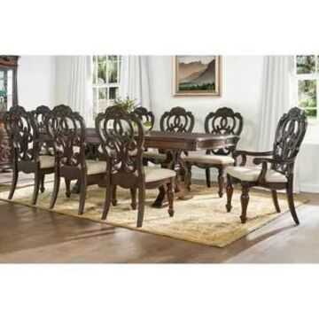 Richland Pecan Finish Traditional Dining Set by Greyson Living (9-Piece Set)
