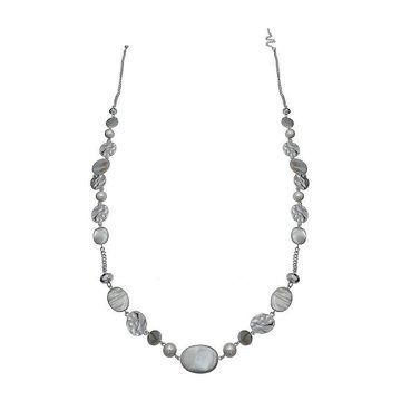 Mixit Grey Tonal Faceted Beaded Necklace
