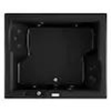 Jacuzzi Fuzion 71.75-in Black Acrylic Rectangular Center Drain Drop-In Whirlpool Bathtub
