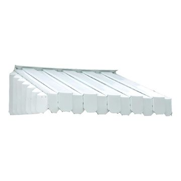 Americana Building Products Aluma Vent RE 50-in Wide x 43-in Projection White Solid Slope Window/Door Fixed Awning