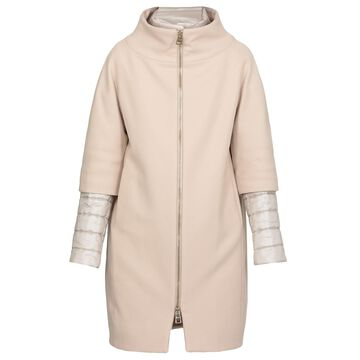 Herno Wool Coat With Double Trim