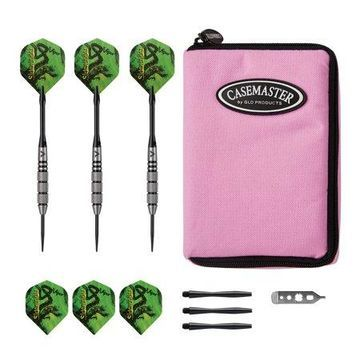 Viper Sidewinder Tungsten Steel Tip Darts 21 Grams and Casemaster Select Pink Nylon Dart Case