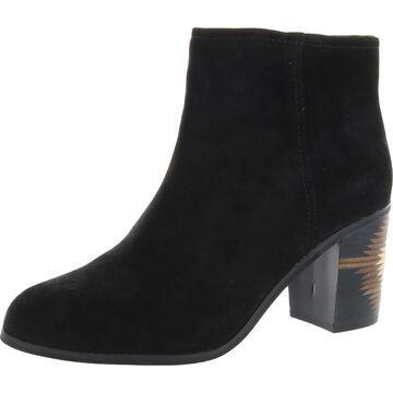 Seychelles Womens Grand Finale Ankle Boots Suede Heels - Black Suede - 8.5 Medium (B,M)
