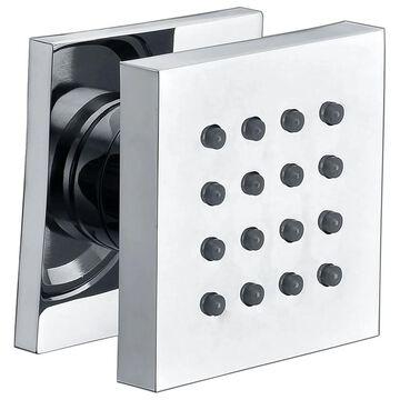 ALFI brand AB4501-PC Polished Chrome Modern Square Adjustable Shower Body Spray