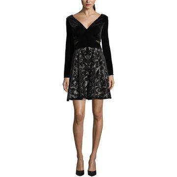 Xscape Womens Party Dress Velvet Fit & Flare